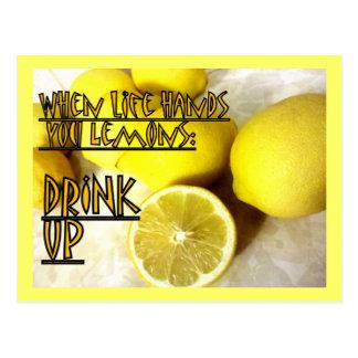 Carte Postale Buvez ces citrons