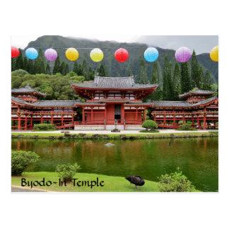 Carte Postale Byodo-Dans le temple bouddhiste Hawaï