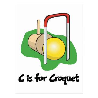 Carte Postale C est pour le croquet