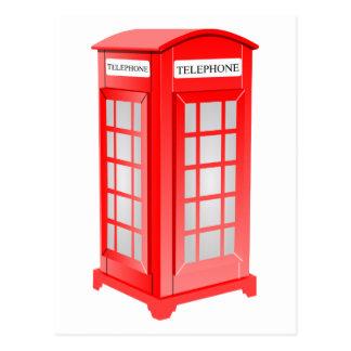 Carte Postale Cabine de téléphone britannique