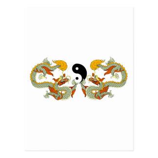 Carte Postale Cadeau de dragon de Yin Yang