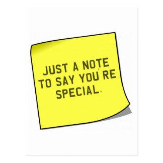 """Carte Postale Cadeau de Merci - citation unique de """"note"""""""