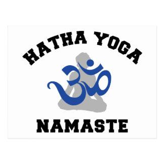 Carte Postale Cadeau de Namaste de yoga de Hatha