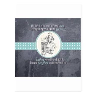 Carte Postale Cadeaux d'Alice et du pays des merveilles