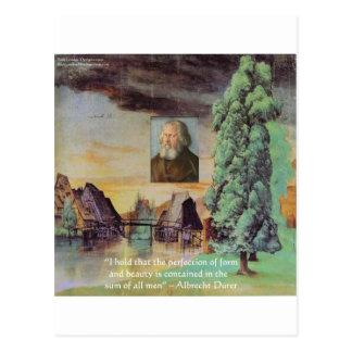 Carte Postale Cadeaux de citation de sagesse d'homme d'Albrecht