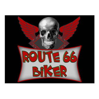 Carte Postale Cadeaux de T-shirts de cycliste de l'itinéraire 66