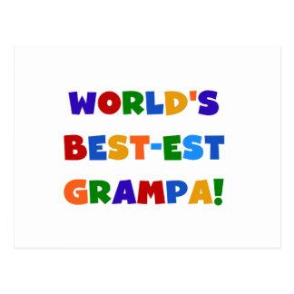 Carte Postale Cadeaux du Meilleur-est Grampa du monde lumineux