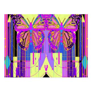 Carte Postale Cadeaux jumeaux de papillon de Gémeaux par Sharles