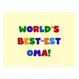 Carte Postale Cadeaux lumineux de couleurs du Meilleur-est Oma