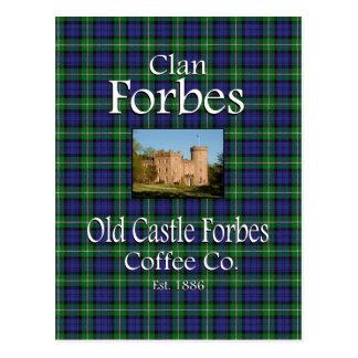 Carte Postale Café Cie. de Forbes de château de Forbes de clan