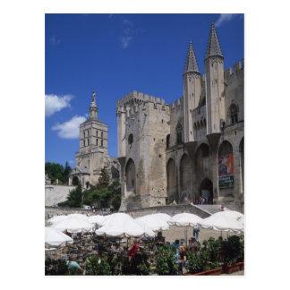 Carte Postale Café, Le Palais des Papes, Avignon, Vaucluse,