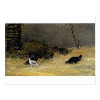 Carte Postale Cage de poulet par Paul Gauguin