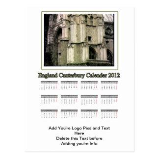 Carte Postale Calendrier 2012 de l'Angleterre Cantorbéry le