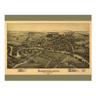 Carte Postale Cambridgeboro le comté de Crawford Pennsylvanie