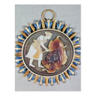 Carte Postale Camée dépeignant le lion de massacre de Shah Jahan