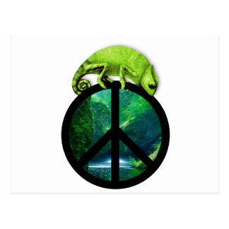 Carte Postale caméléon de paix