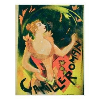 """Carte Postale """"Camille romain"""" (litho de couleur)"""
