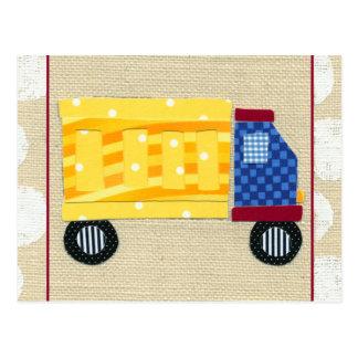 Carte Postale Camion à la benne basculante de l'enfant par