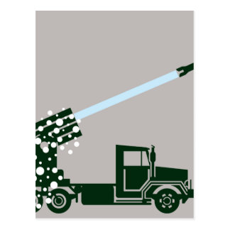 Carte Postale Camion d'attaque par missiles