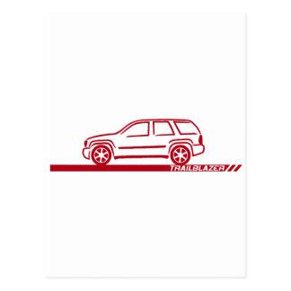 Carte Postale Camion marron de pionnier