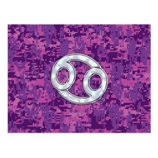 Carte Postale Camouflage moderne de Digitals de rose de signe de