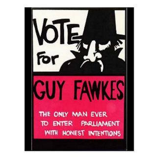 Carte Postale Campagne de Guy Fawkes
