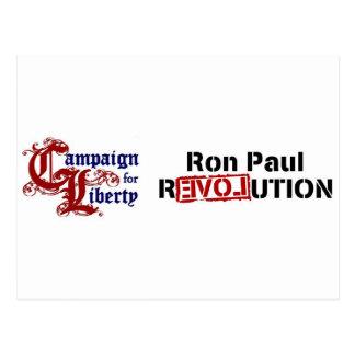 Carte Postale Campagne de Ron Paul pour la révolution de liberté