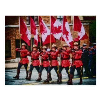 Carte Postale Canadiens sur le défilé par le Mac de Shawna