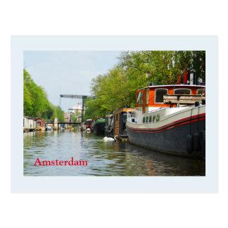 Carte Postale Canal à Amsterdam