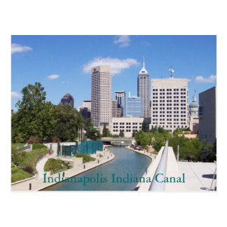 Carte Postale Canal d'Indianapolis Indiana