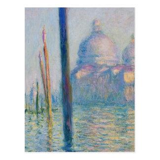 Carte Postale Canal grand Venise par Monet