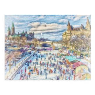 Carte Postale Canal Ottawa Canada de Rideau