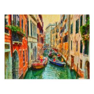 Carte Postale Canal vénitien Venise Italie