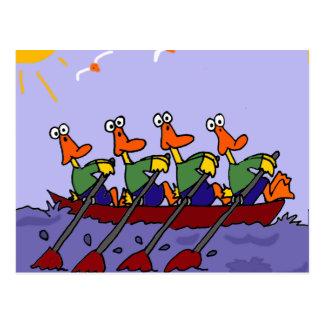 Carte Postale Canards drôles dans une bande dessinée de rangée