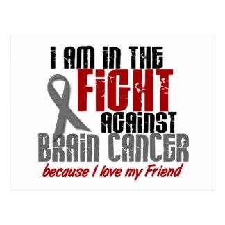Carte Postale Cancer du cerveau DANS l'ami du COMBAT 1