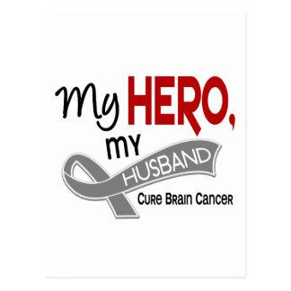 Carte Postale Cancer du cerveau MON HÉROS MON MARI 42