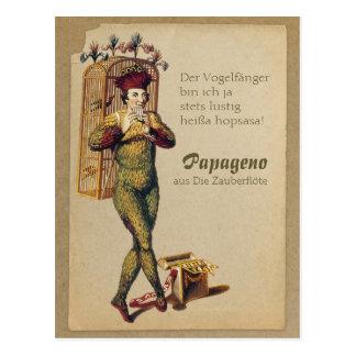 Carte Postale Cannelure magique CC0839 Mozart de Papageno