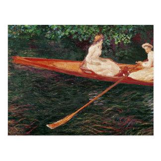 Carte Postale Canotage de Claude Monet | sur la rivière Epte