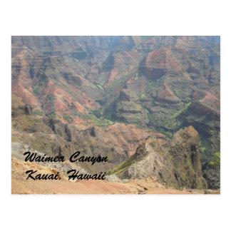 Carte Postale Canyon Kauai, Hawaï de Waimea