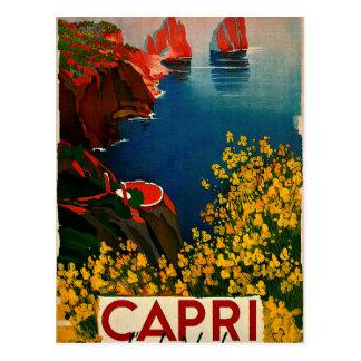 Carte Postale Capri vintage L'Isola del Sole Italie
