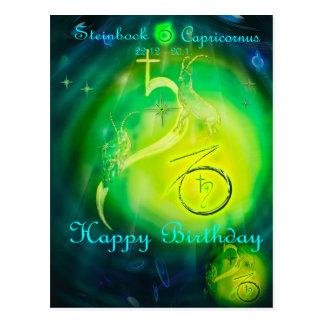 Carte Postale Capricorn de Birthday contents