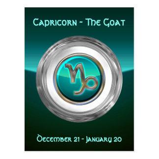 Carte Postale Capricorne - le signe de zodiaque de chèvre
