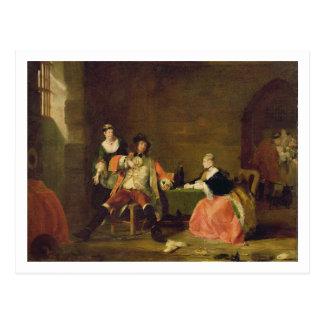 Carte Postale Captain Macheath Upbraided par Polly et Lucy en Th