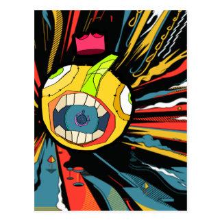Carte Postale Caractère de boule de haut-parleur à