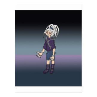 Carte Postale Caractère de galerie d'art d'Anime d'Alex