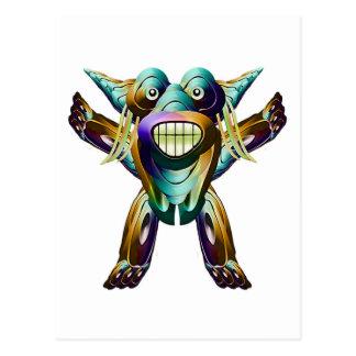 Carte Postale Caractère drôle heureux de monstre