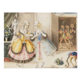 """Carte Postale Caractères """"de tutte de fan de Cosi"""" par Mozart,"""