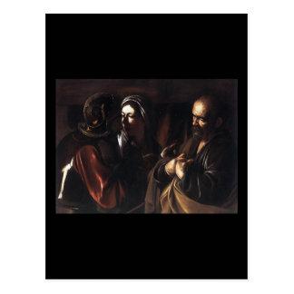 Carte Postale Caravaggio le démenti de St Peter