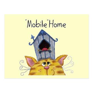 Carte Postale Caravane résidentielle de Chambre de chat et