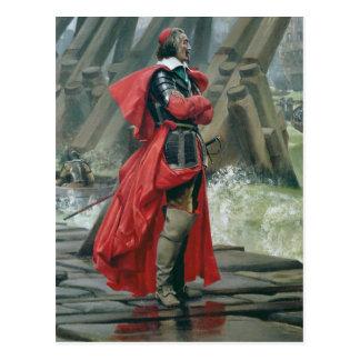 Carte Postale Cardinal Richelieu sur le mur de mer à la La